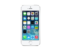 Apple iPhone 5s (Silver, 32GB) for sale.